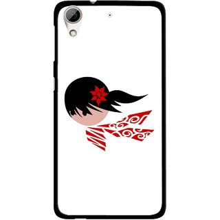 Snooky Printed Caty Girl Mobile Back Cover For HTC Desire 626 - Multi