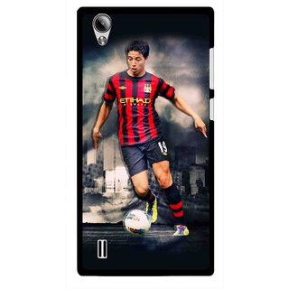 Snooky Printed Football Mania Mobile Back Cover For Vivo Y15 - Multi
