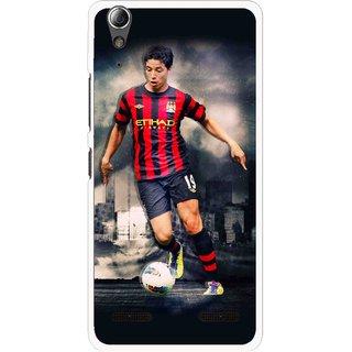 Snooky Printed Football Mania Mobile Back Cover For Lenovo A6000 - Multi