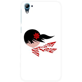 Snooky Printed Caty Girl Mobile Back Cover For HTC Desire 826 - Multi