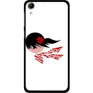 Snooky Printed Caty Girl Mobile Back Cover For HTC Desire 728 - Multi