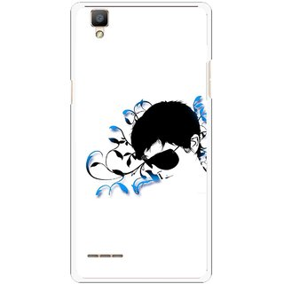 Snooky Printed Stylo Man Mobile Back Cover For Oppo F1 - Multi