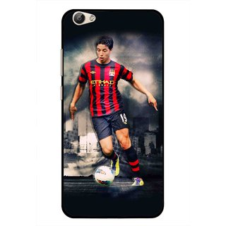 Snooky Printed Football Mania Mobile Back Cover For Vivo Y55 - Multi