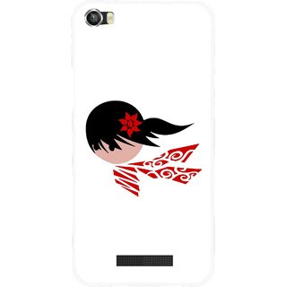 Snooky Printed Caty Girl Mobile Back Cover For Lava Iris X8 - Multi