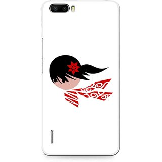 Snooky Printed Caty Girl Mobile Back Cover For Huawei Honor 6 Plus - Multi