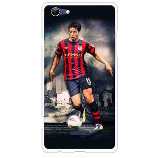 Snooky Printed Football Mania Mobile Back Cover For Micromax Canvas Selfie 3 Q348 - Multi