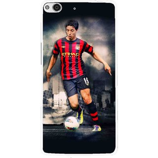 Snooky Printed Football Mania Mobile Back Cover For Gionee Elife E6 - Multi