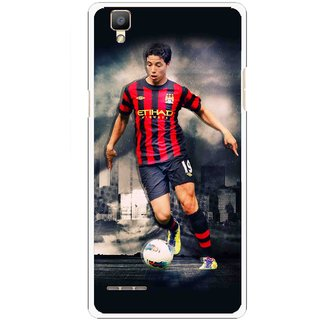 Snooky Printed Football Mania Mobile Back Cover For Oppo F1 - Multi