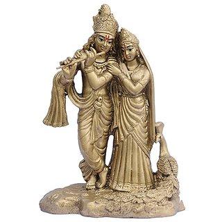 Mayur Radha Krishna (Brass Finish)