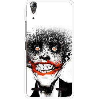 Snooky Printed Joker Mobile Back Cover For Lenovo A6000 - Multi