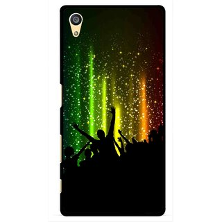 Snooky Printed Party Time Mobile Back Cover For Sony Xperia Z5 Plus - Multi