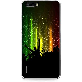 Snooky Printed Party Time Mobile Back Cover For Huawei Honor 6 Plus - Multi