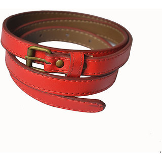 Rags Style Red Faux Women Leather  Belt