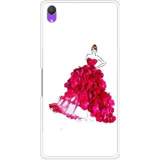 Snooky Printed Rose Girl Mobile Back Cover For Sony Xperia Z2 - Multi