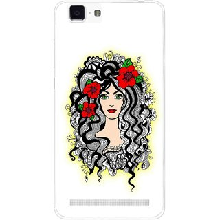 Snooky Printed Tarro Girl Mobile Back Cover For Vivo X5 Max - Multi