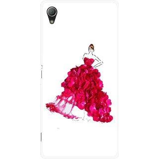 Snooky Printed Rose Girl Mobile Back Cover For Sony Xperia Z3 - Multi