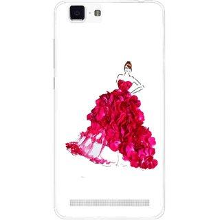 Snooky Printed Rose Girl Mobile Back Cover For Vivo X5 Max - Multi