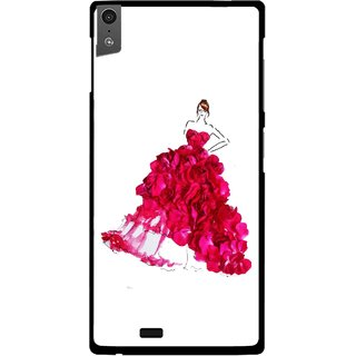 Snooky Printed Rose Girl Mobile Back Cover For Gionee Elife S5.5 - Multi