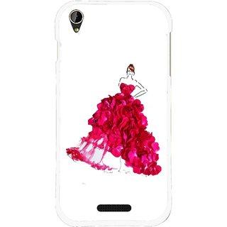 Snooky Printed Rose Girl Mobile Back Cover For Lava X1 Mini - Multi