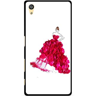 Snooky Printed Rose Girl Mobile Back Cover For Sony Xperia Z5 Plus - Multi