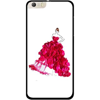 Snooky Printed Rose Girl Mobile Back Cover For Micromax Canvas Knight 2 E471 - Multi