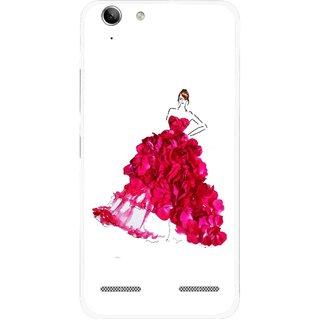Snooky Printed Rose Girl Mobile Back Cover For Lenovo Vibe K5 Plus - Multi
