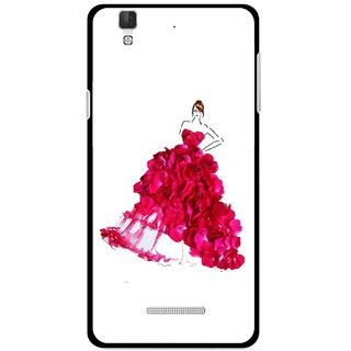 Snooky Printed Rose Girl Mobile Back Cover For Micromax Yu Yureka Plus - Multi