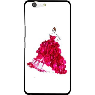 Snooky Printed Rose Girl Mobile Back Cover For Gionee Marathon M5 - Multi