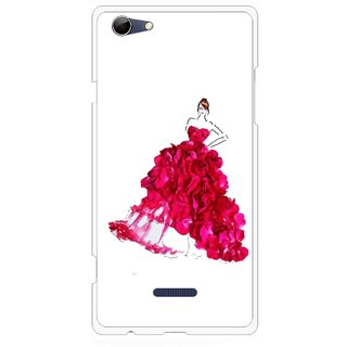 Snooky Printed Rose Girl Mobile Back Cover For Micromax Canvas Selfie 3 Q348 - Multi