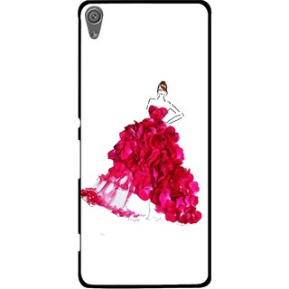Snooky Printed Rose Girl Mobile Back Cover For Sony Xperia XA1 - Multi