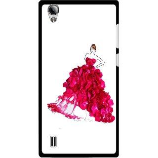 Snooky Printed Rose Girl Mobile Back Cover For Vivo Y15 - Multi