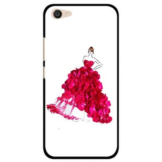Snooky Printed Rose Girl Mobile Back Cover For Vivo V5 Plus - Multi