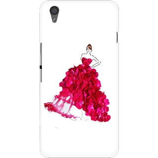 Snooky Printed Rose Girl Mobile Back Cover For One Plus X - Multi