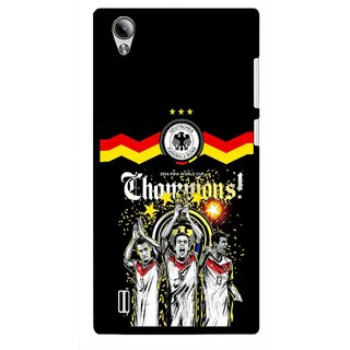 Snooky Printed Champions Mobile Back Cover For Vivo Y15 - Multi