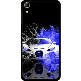 Snooky Printed Super Car Mobile Back Cover For HTC Desire 728 - Multi