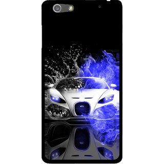 Snooky Printed Super Car Mobile Back Cover For Oppo R1 - Multi