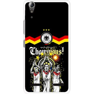 Snooky Printed Champions Mobile Back Cover For Lenovo A6000 - Multi