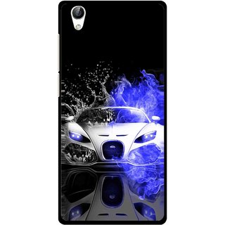 Snooky Printed Super Car Mobile Back Cover For Vivo Y51L - Multi