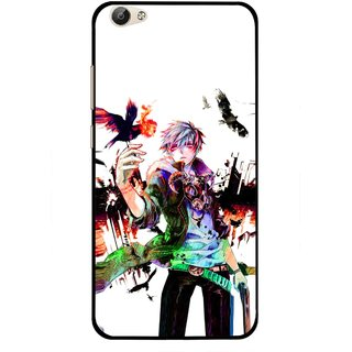 Snooky Printed Angry Man Mobile Back Cover For Vivo Y55 - Multi