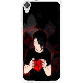 Snooky Printed Broken Heart Mobile Back Cover For HTC Desire 820 - Multi