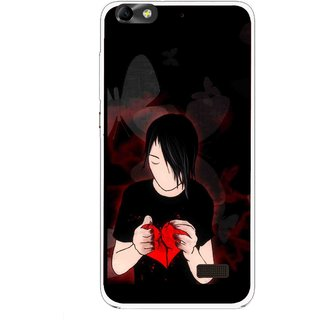 Snooky Printed Broken Heart Mobile Back Cover For Huawei Honor 4C - Multi
