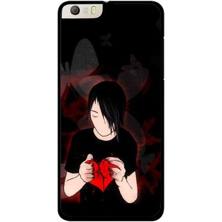 Snooky Printed Broken Heart Mobile Back Cover For Micromax Canvas Knight 2 E471 - Multi
