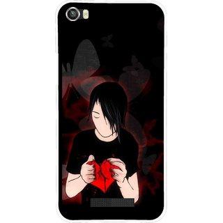 Snooky Printed Broken Heart Mobile Back Cover For Lava Iris X8 - Multi