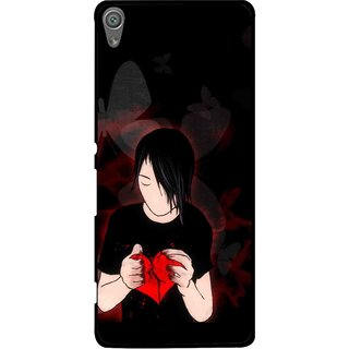 Snooky Printed Broken Heart Mobile Back Cover For Sony Xperia XA1 - Multi