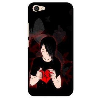 Snooky Printed Broken Heart Mobile Back Cover For Vivo V5 Plus - Multi