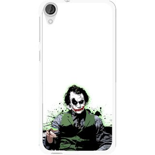 Snooky Printed Joker Mobile Back Cover For HTC Desire 820 - Multi