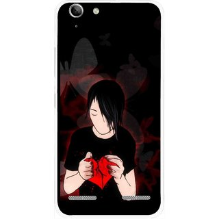 Snooky Printed Broken Heart Mobile Back Cover For Lenovo Vibe K5 Plus - Multi