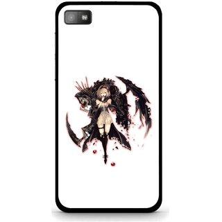 Snooky Printed Kungfu Girl Mobile Back Cover For Blackberry Z10 - Multi
