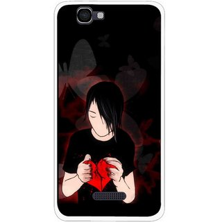Snooky Printed Broken Heart Mobile Back Cover For Micromax Canvas 2 A120 - Multi