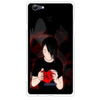 Snooky Printed Broken Heart Mobile Back Cover For Micromax Canvas Selfie 3 Q348 - Multi